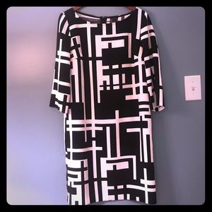 Ann Taylor Geometric Shift Dress
